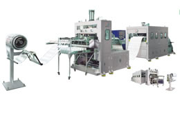 On-line Punching Plastic Thermoforming Machine